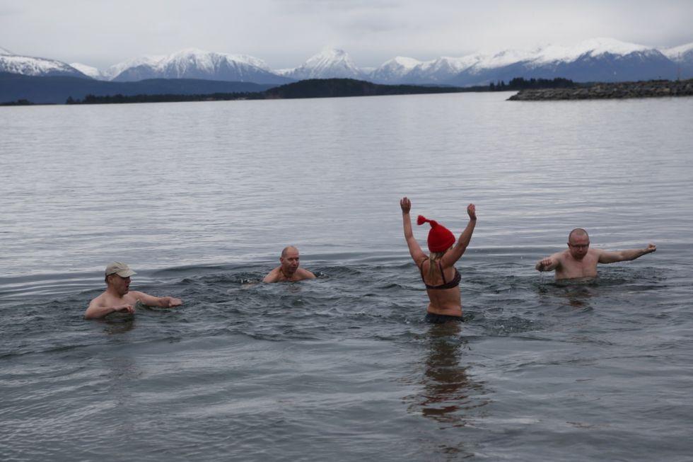 Er du klar for årets vinterbad?                                   Foto: Jakob Aarø Lange