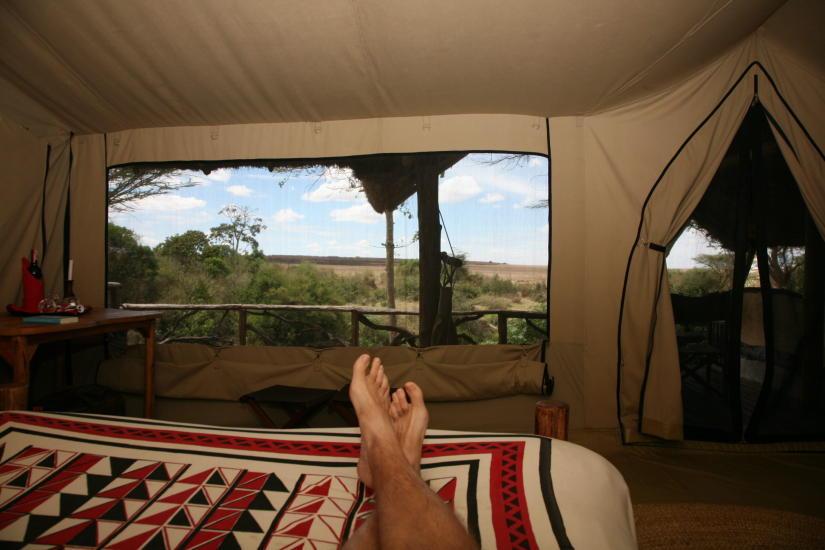 Teltliv i Masai Mara                                 Foto: Odd Roar Lange