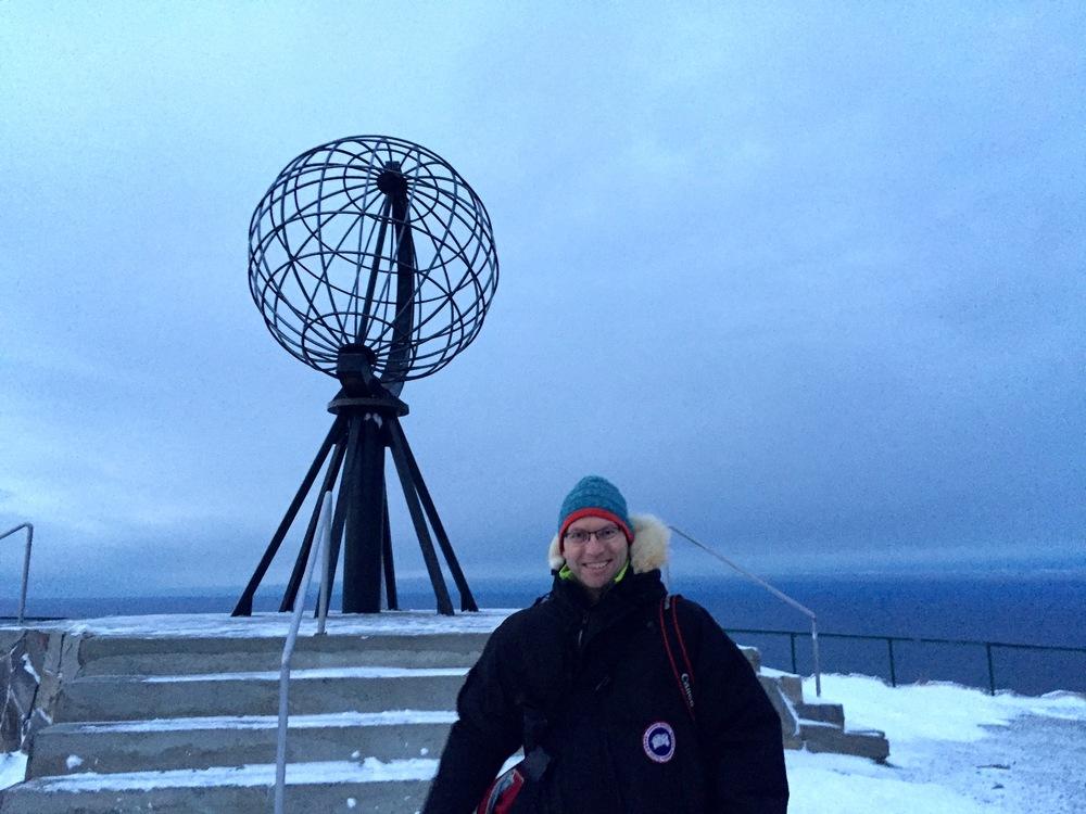 Nordkapp og det blå vinterlyset.                         Foto: Paul Steel/Thebaldhiker