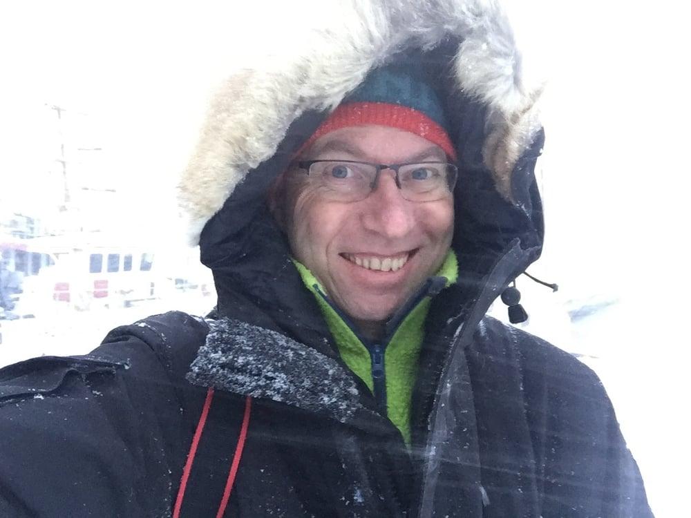 Fine vinterforhold, elendige mobiltelefonforhold.       Foto: Odd Roar Lange