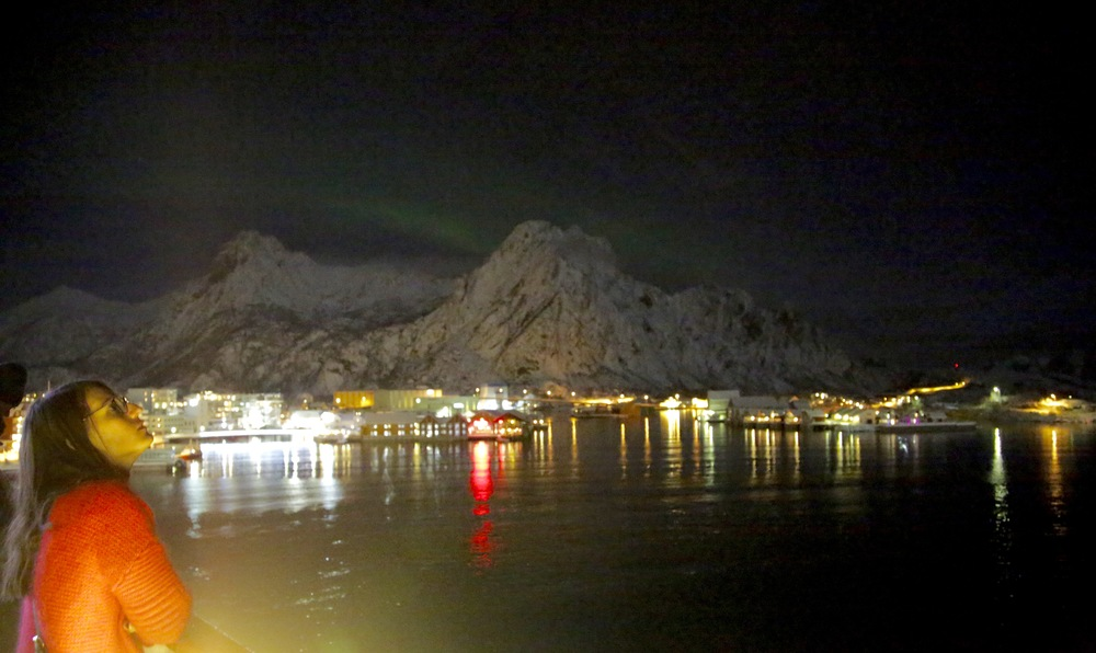 Vinter-Norge. En veldig fin reise med Hurtigruten - her ved Svolvær.              Foto: Odd Roar Lange