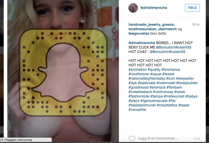Vil du la denne snapschatprofilen bruke din instagamfeed? Det gjør åpenbart visitnorway. (Skjermdump)