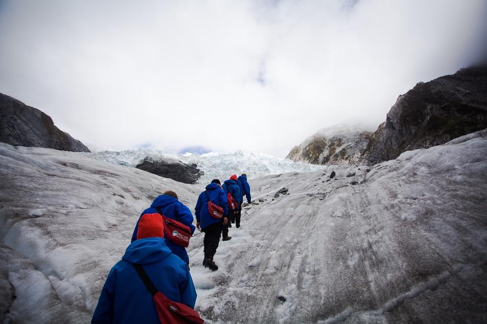 Franz Josef, en av New Zealands største isbreer.