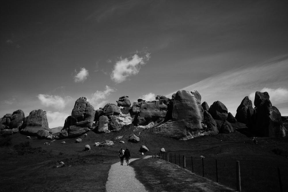 Castle hill, naturlige steinformasjoner man kan gå seg vill i.