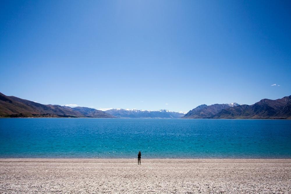 En av innsjøene ved Wanaka.