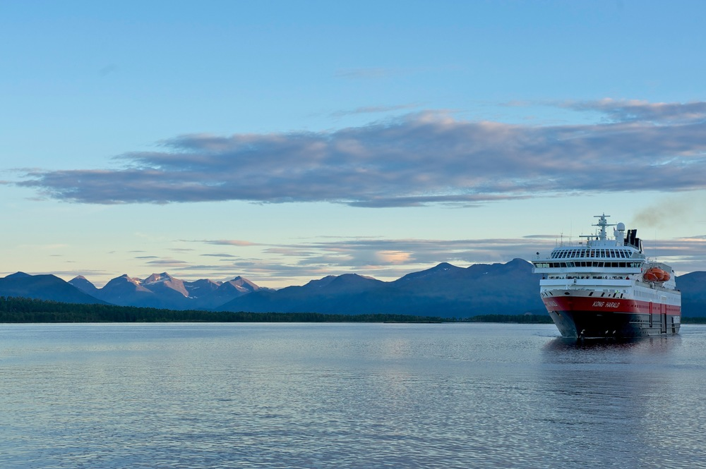 MS Kong Harald er klar for nye tokt.     Foto: Castrichella Giancarlo/Hurtigruten