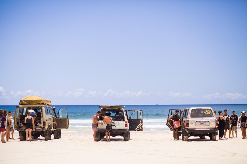 På eventyr på Fraser Island, verdens største sandøy.