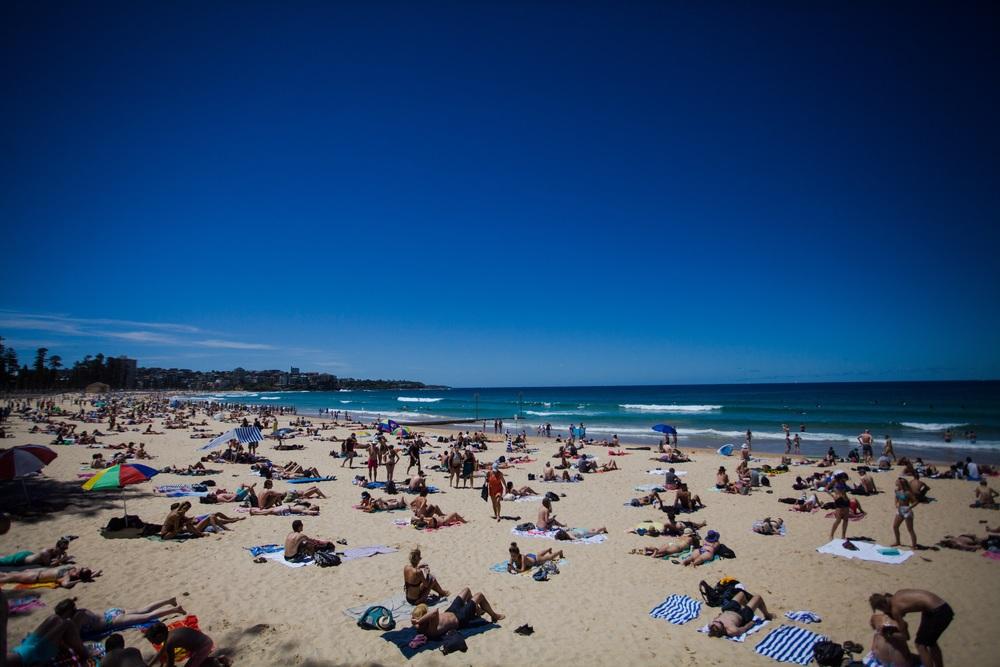 Bondi Beach, kanskje den mest kjente stranden i Australia. Du finner den i Sydney.