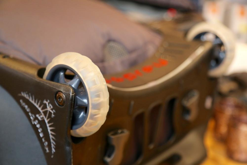 Store og gode hjul er viktig for en god trillesekk.    Foto: Odd Roar Lange