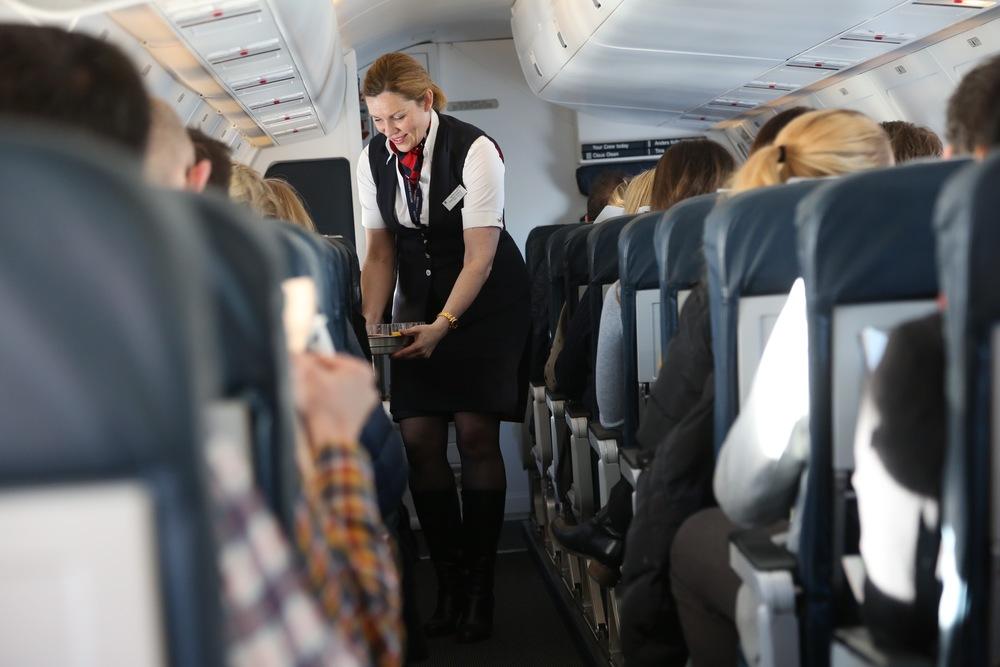 Hvordan oppfører du deg på flyet?              Foto: Odd Roar Lange