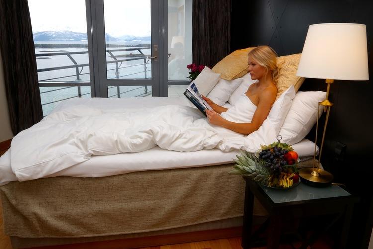 Gå til sengs i de fineste omgivelser på Scandic Hotel Seilet. I morgen våkner du til en spektakulær utsikt. Foto: Odd Roar Lange