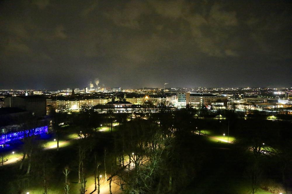 Aalborg by night                                     Foto: Odd Roar Lange