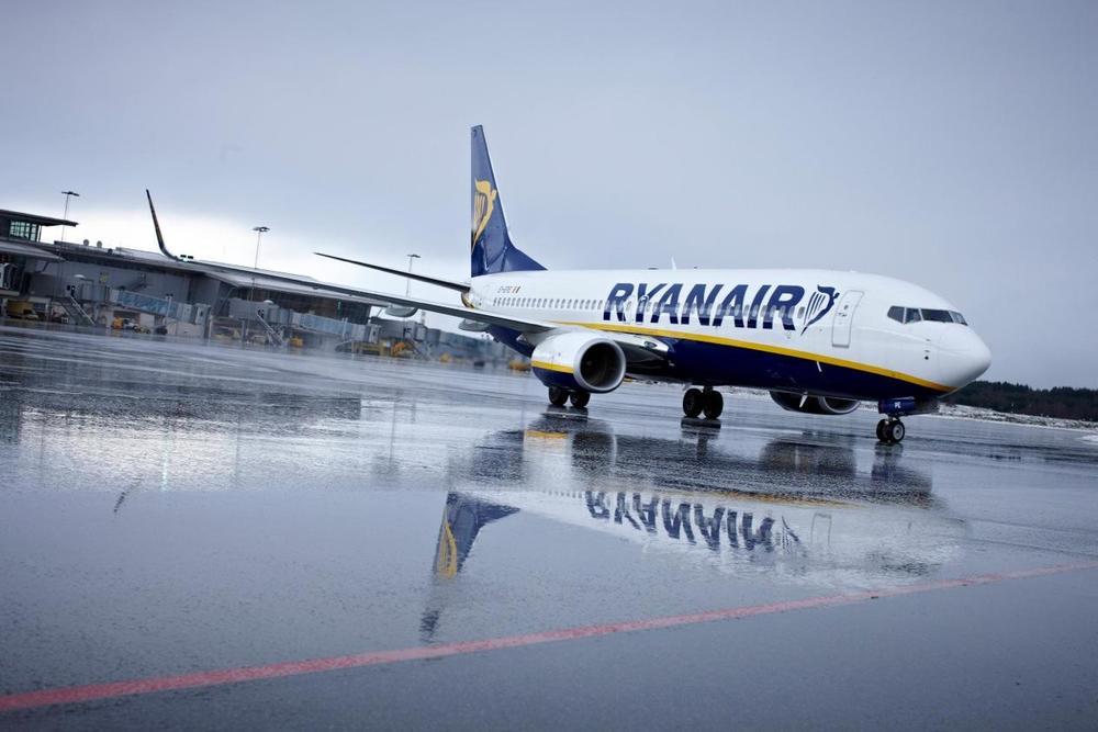 Når Ryanair flyr bort kan nye og trygge arbeidsplasser sikres. Foto: Ryanair