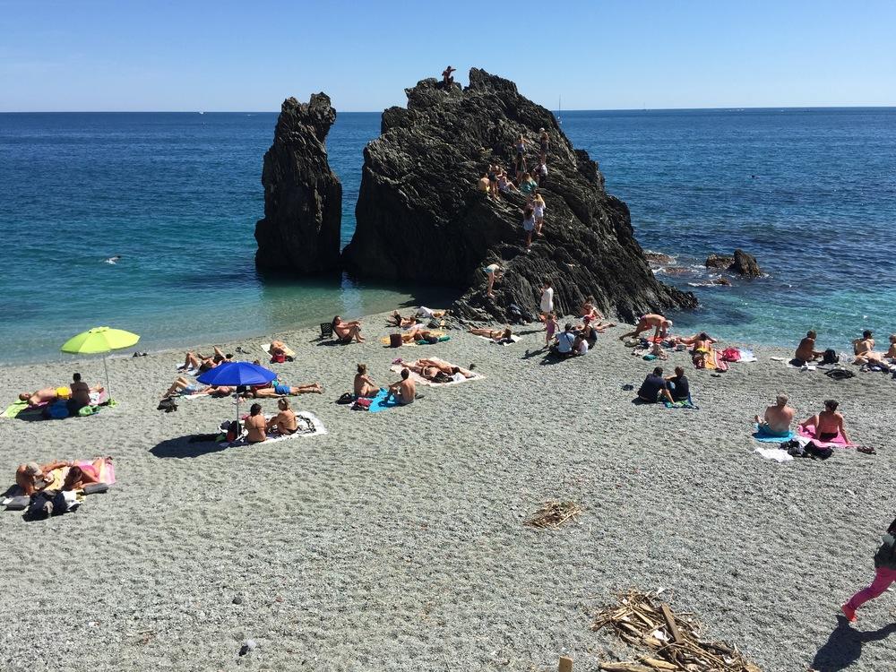 Hvor langt er det til stranden, i virkeligheten?          Foto: Odd Roar Lange