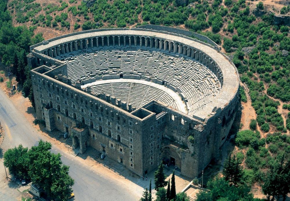 Aspendos i Antalyaregionen.