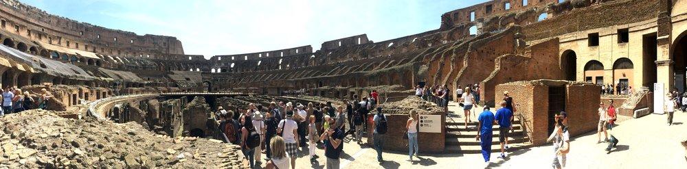 Velkommen til Colosseum.  Husk å kjøpe billetter på forhånd, så slipper du (nesten) kø. Foto: Odd Roar Lange