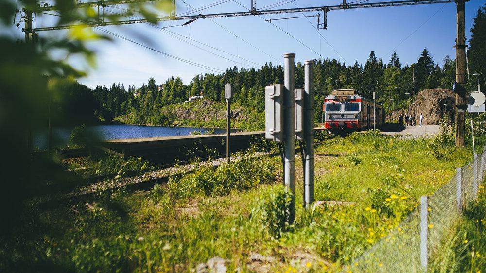 Dra til fjells - med toget.                               Foto: Marius D Sætre/Den Norske Turistforening