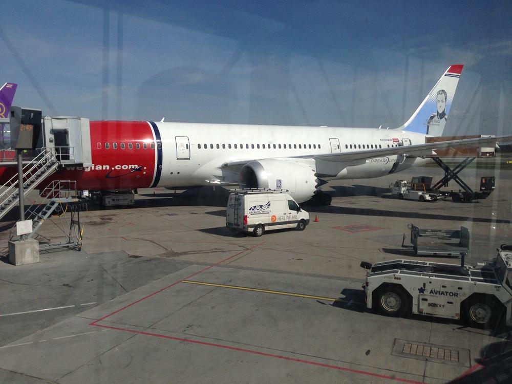 Dårlig start på høstferien for Norwegianpassasjerer.       Foto: Odd Roar Lange
