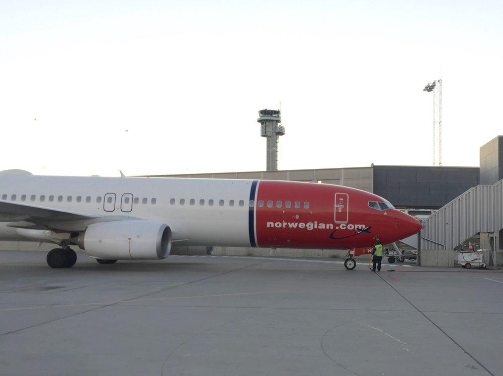 Norwegian sette fly på bakken.            Foto: Odd Roar Lange
