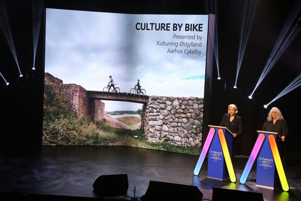Her presenteres programmet for Aarhus 2017. Det er bare å glede seg. Foto:Odd Roar Lange