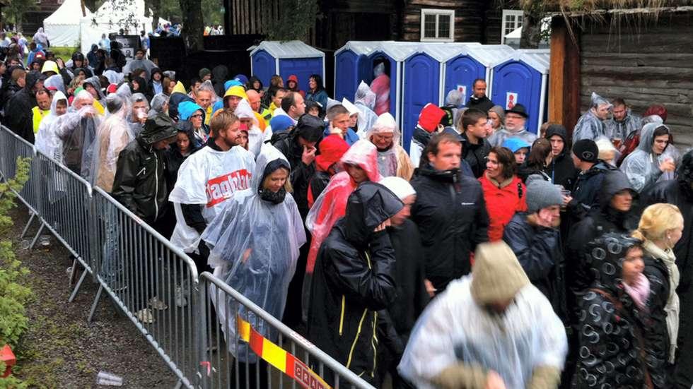 Terroren i Oslo og på Utøya i 2011 førte til at konserter under Moldejazz ble avlyst og Romsdalsmueet ble tømt for folk.                    Foto: Odd Roar Lange