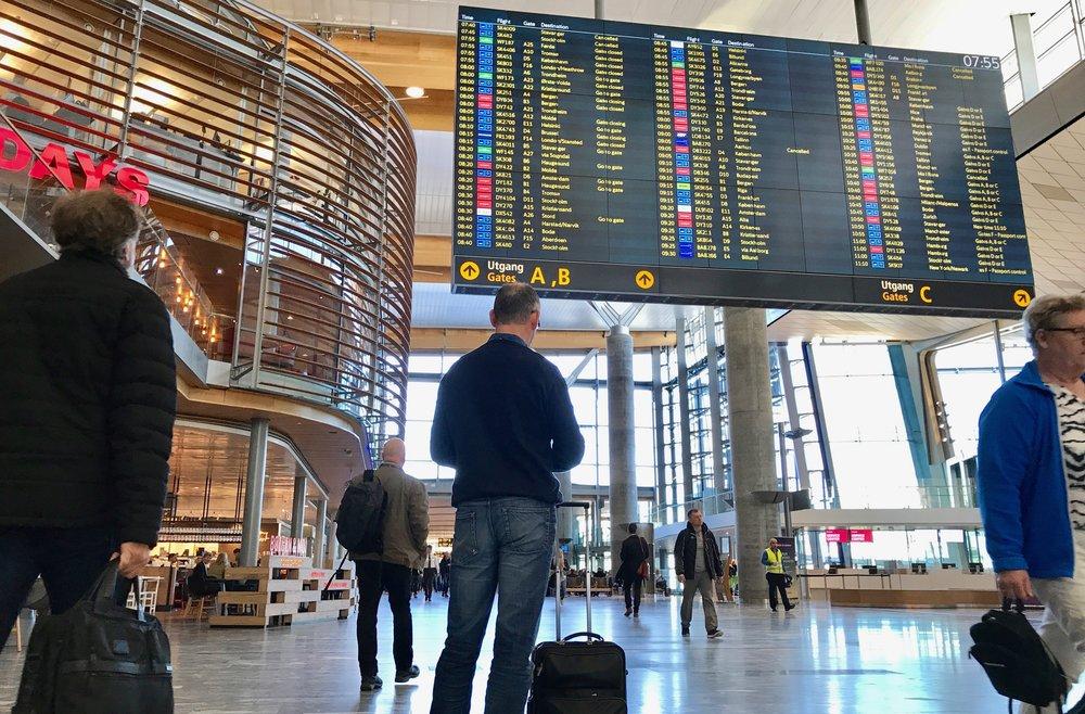 Nye Gardermoen: Den 28. april reiste 100 000 passasjerer over Gardermoen. Foto: Odd Roar Lange