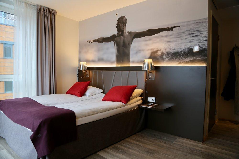 Sov godt: Quality Hotel Waterfront var vårt valg på reisen. Det var et godt valg. Foto: Odd Roar Lange