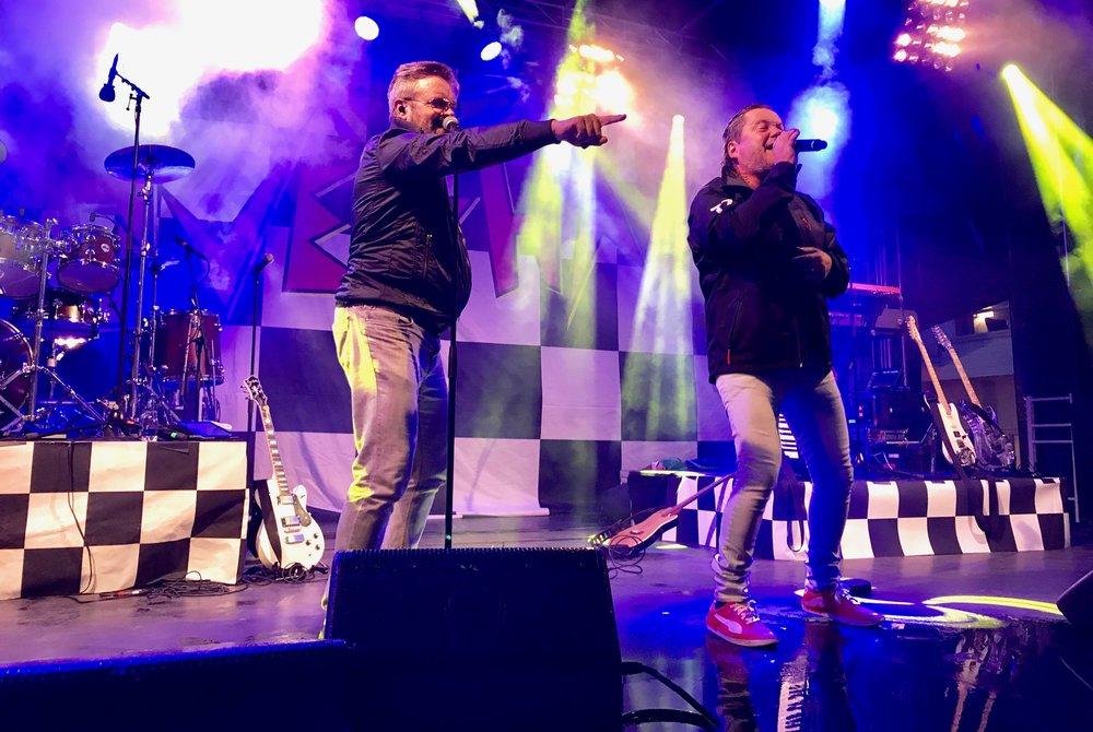 Tommy Ekman og Micke «Syd» Andersson «Freestyle»og «Gyllene Tider». Foto: Odd Roar Lange