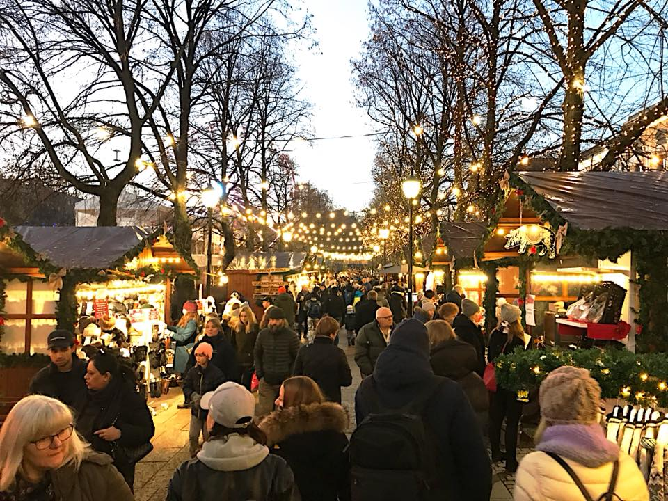 Vintermarkedet i Oslo.                                       Foto: Odd Roar Lange