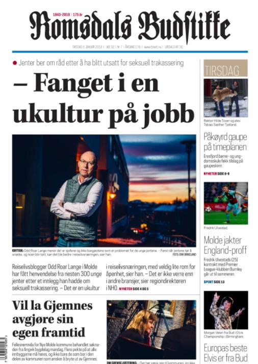 Faksimile fra Romsdals Budstikke 9. januar