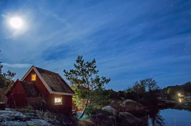 Båtholmen i Hvaler leverer i alle fall idyll.            Foto: Fra utleiesiden på airbnb