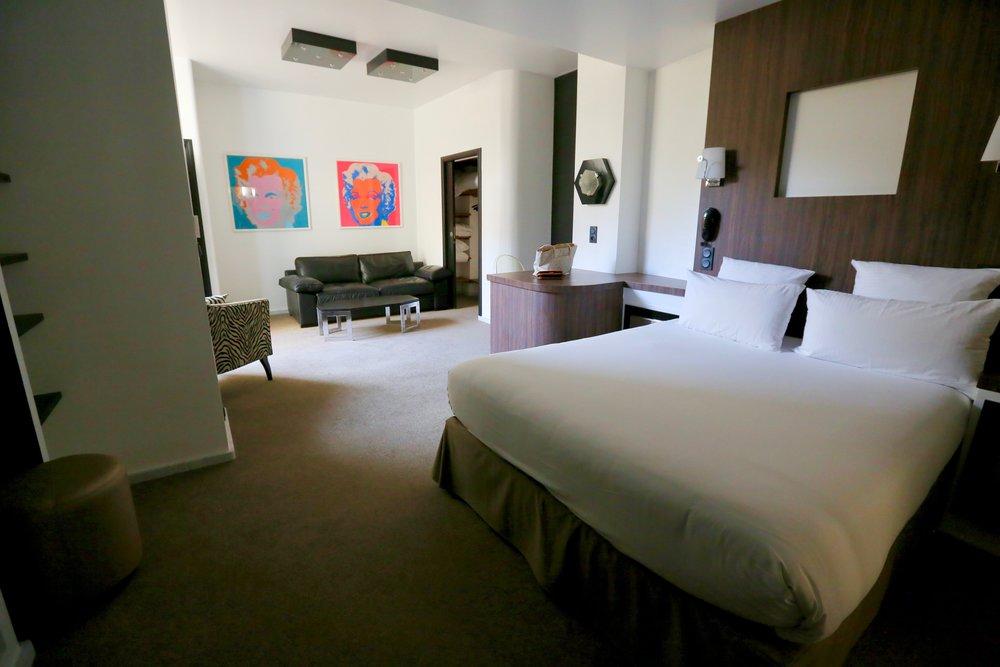 Hotel Monsigny  har både suiter og vanlige rom.        Foto: Odd Roar Lange