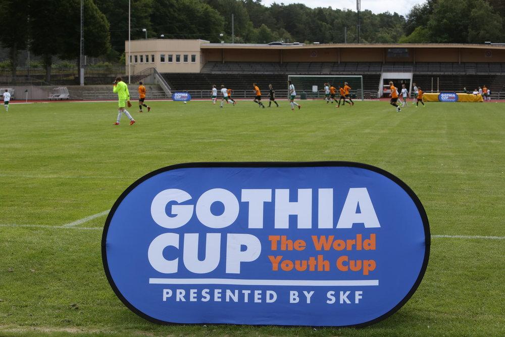 Fotballturneringen Gothia cup samler lag fra hele verden.  Foto: Odd Roar Lange