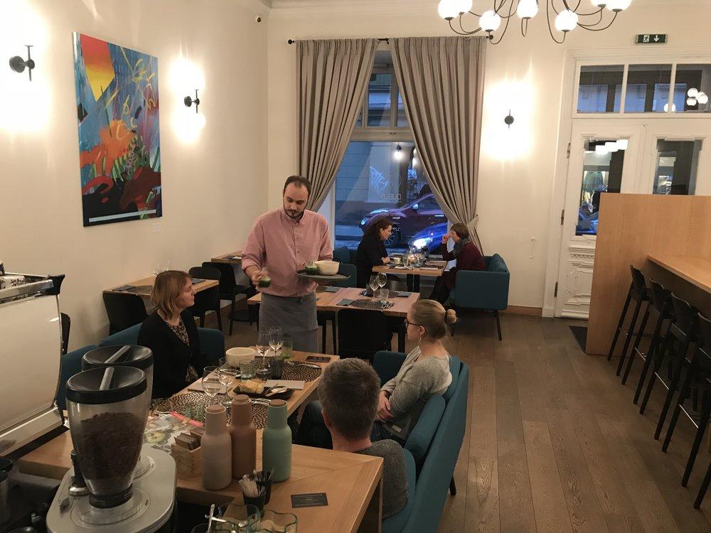 Dublis restaurant i Vilnius har et godt nordisk kjøkken.      Foto: Odd Roar Lange