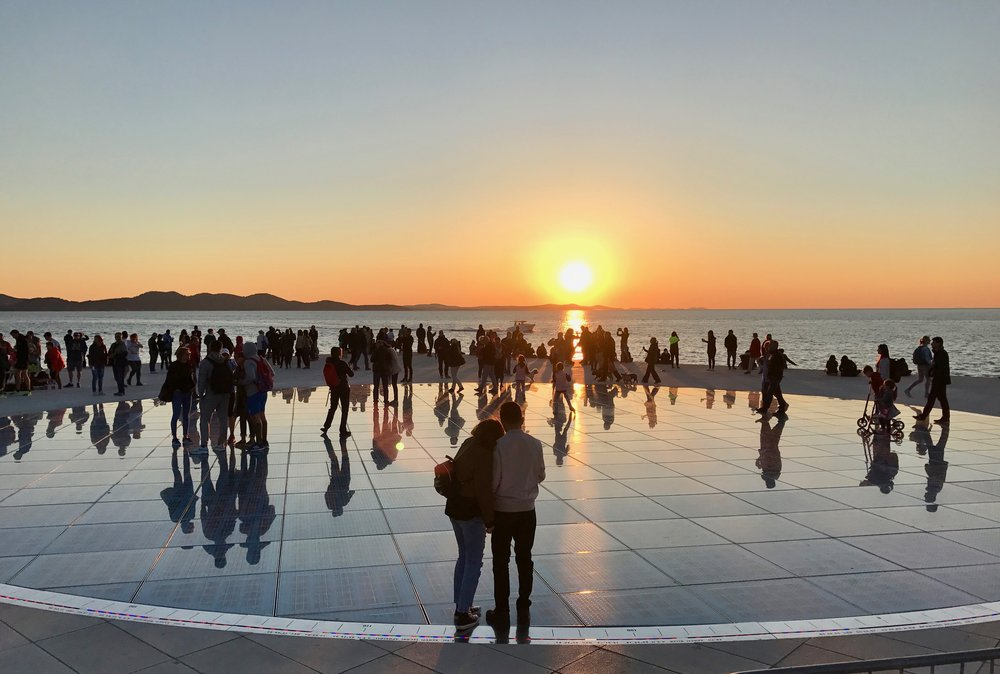 Solen går ned ved kysten av Kroatia.                     Foto: Odd Roar Lange