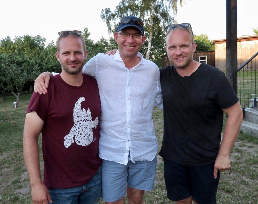 Mikkel (tv) og Mads Marchall kommer fra øya Bornholm og har med «Sol over Gudhjem» satt øya på kartet når det gjelder mat, event og opplevelser.                  Foto: Odd Roar Lange