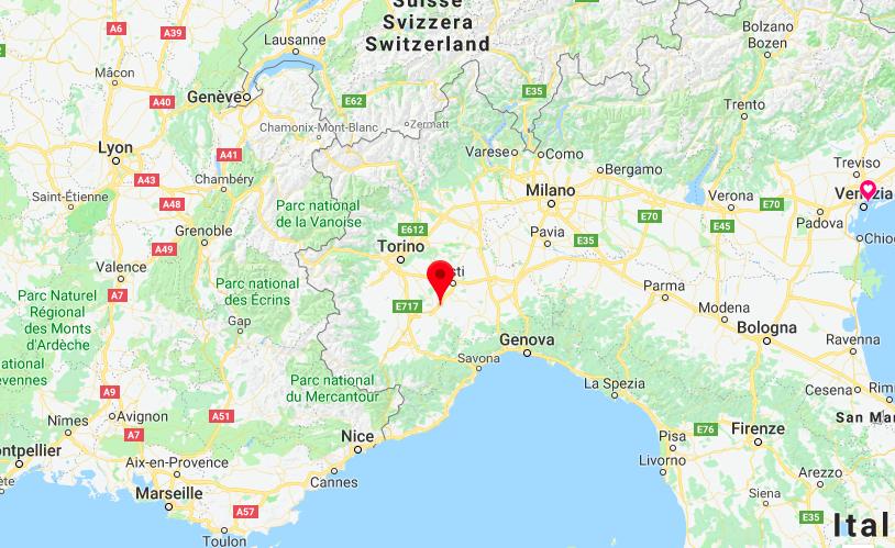 Her finner du Barbaresco i Italia.