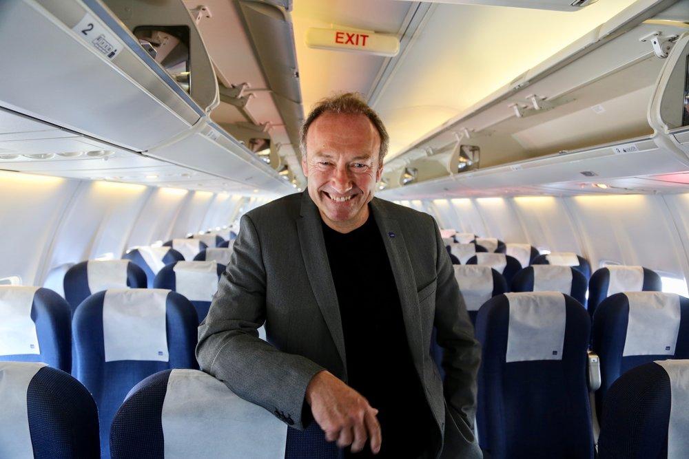 Pressesjef i SAS, Knut Morten Johansen. Foto: Odd Roar Lange