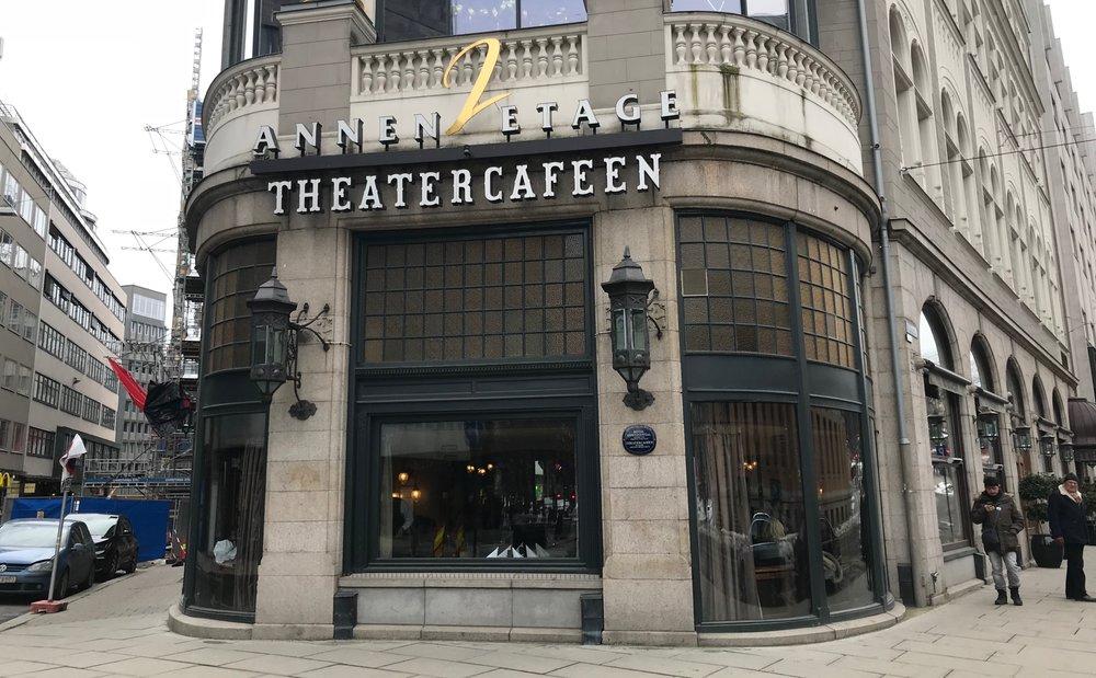 Theatercafeen ligger på bakkeplan i den 118 år gamle Hotel Continental i Oslo. Foto: Odd Roar Lange