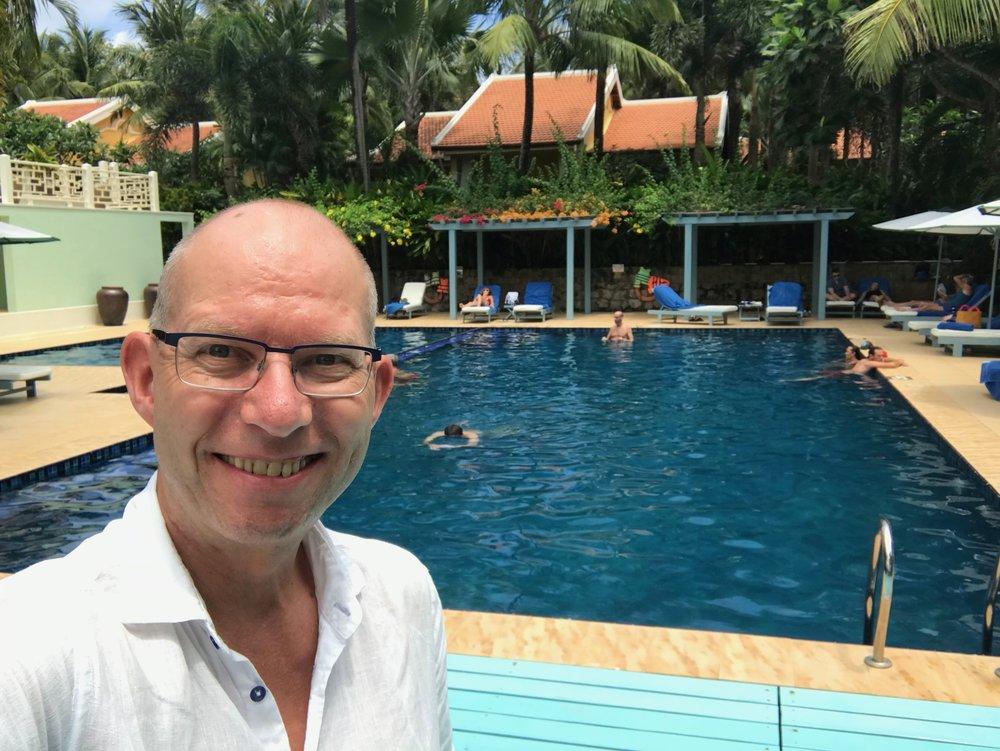 La Veranda har også basseng i hagen.