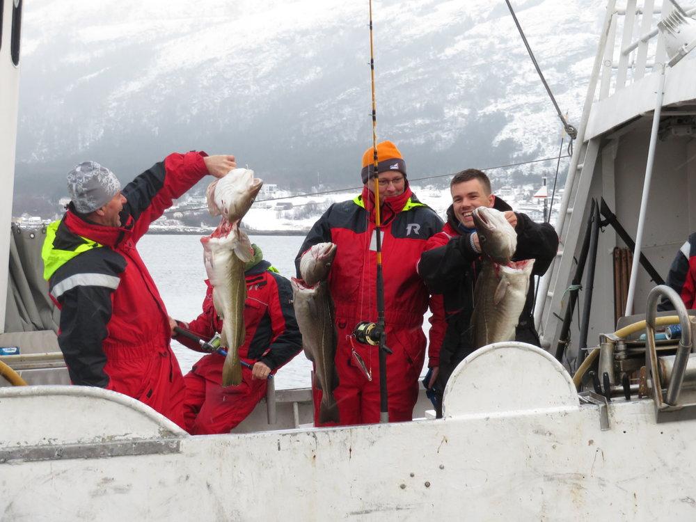 Mat og reiseliv går hånd i hånd. I Ålesund kan turistene være med på fiske på fjorden. Foto: Odd Roar Lange