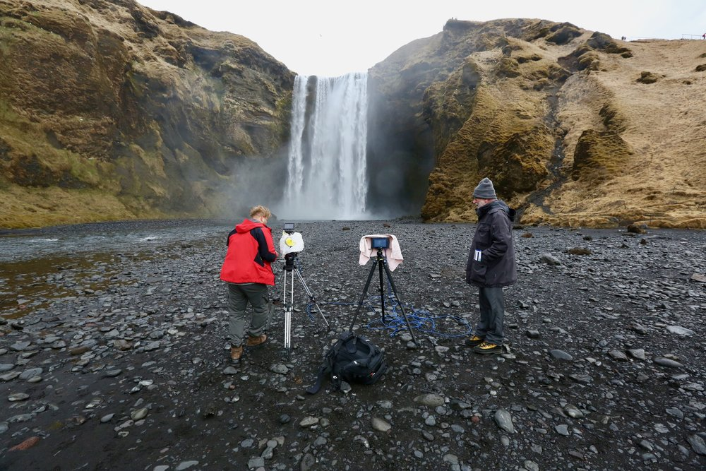 Skogafoss er en av de store turistattraksjonene på Island. Foto: Odd Roar Lange