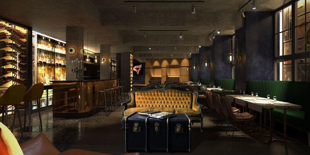 Velkommen til baren.                          Illustrasjon:  Nordic Hotels & Resort