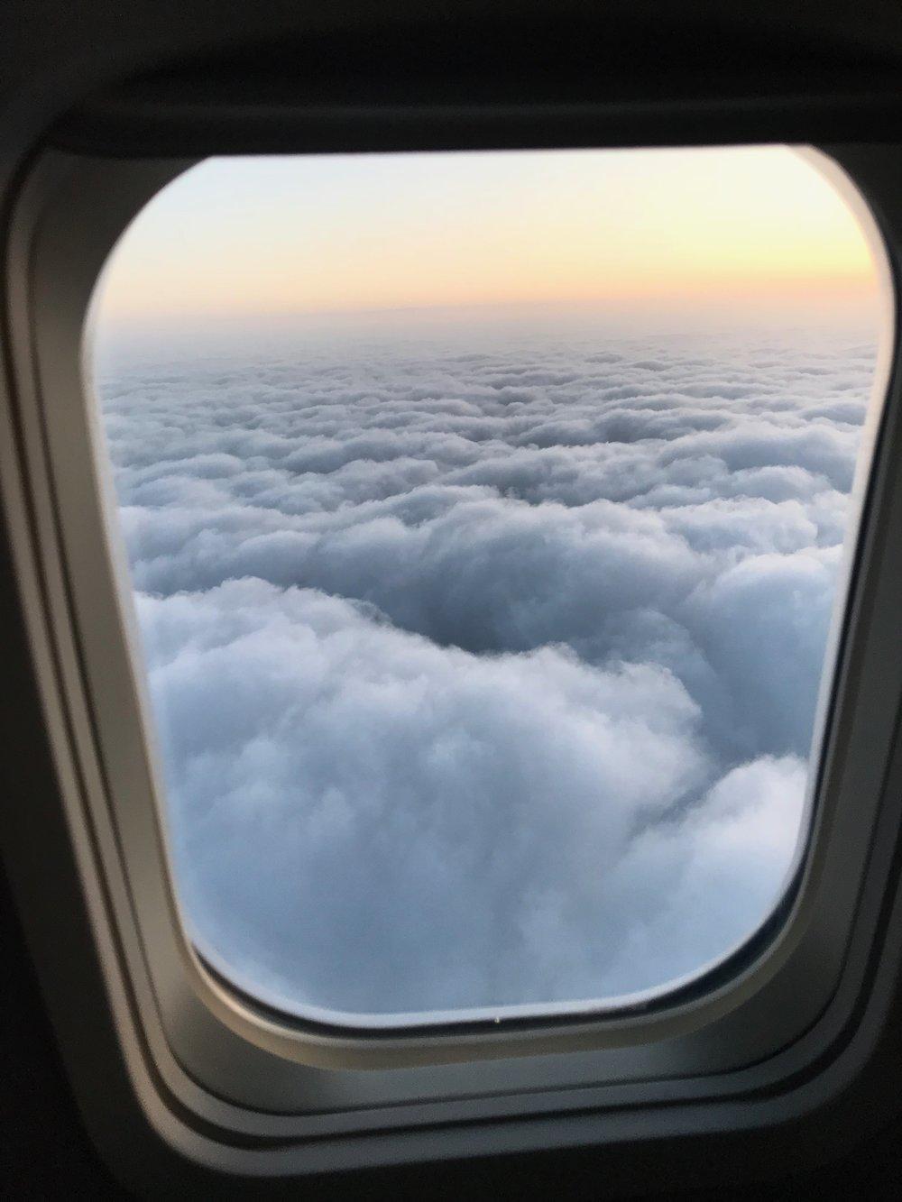 Bruk gjerne flyvinduet som innramming. Foto: Odd Roar Lange