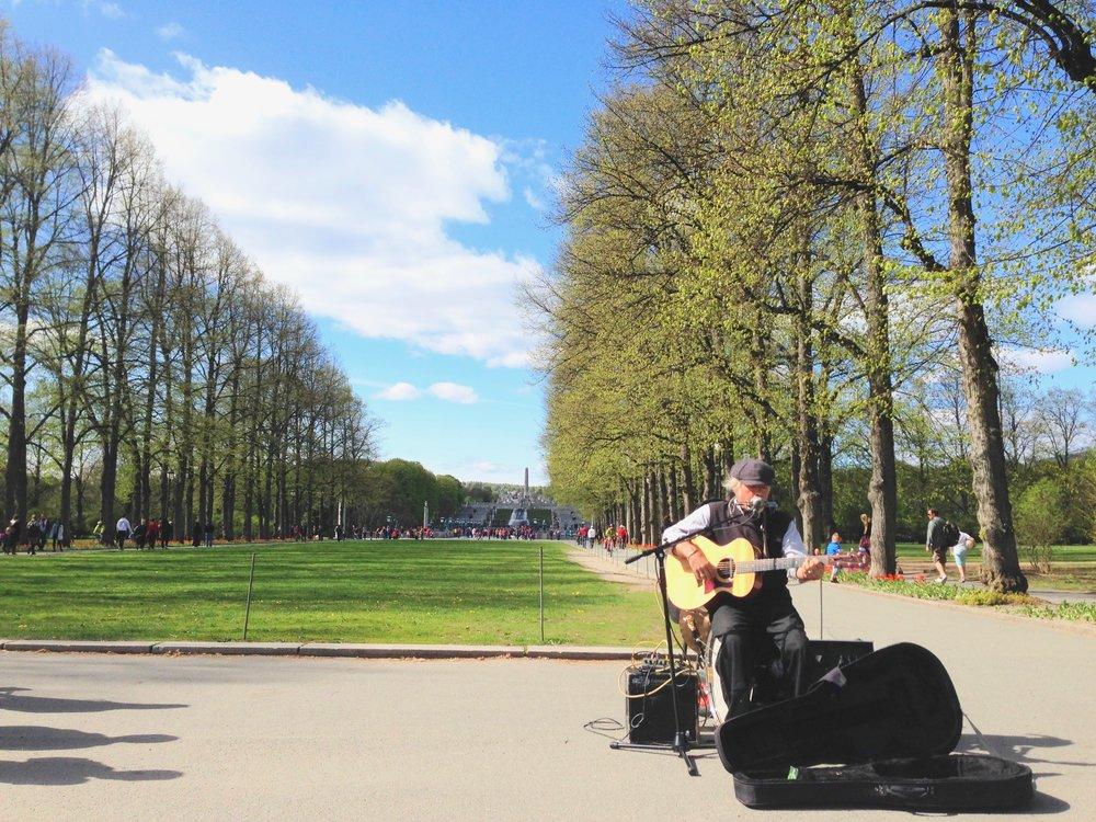 Frognerparken - en grønn lomme i Oslo.              Foto: Odd Roar Lange