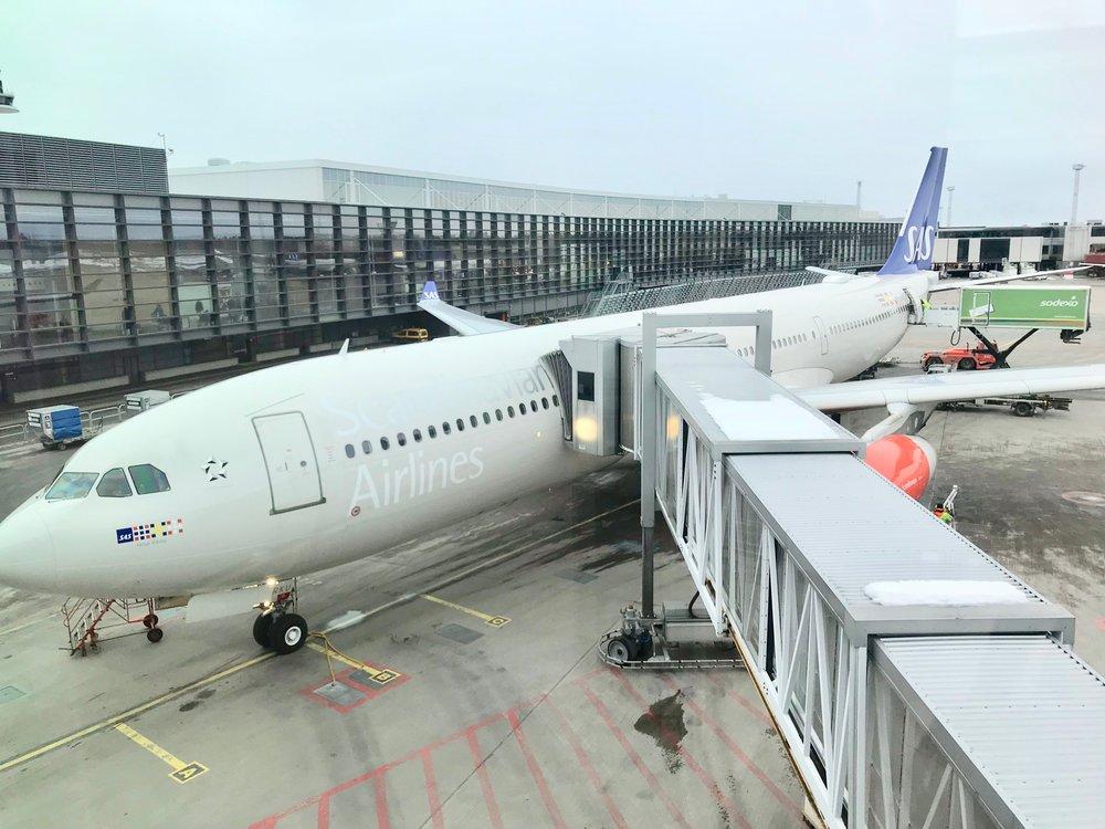 Det er klart for avgang med rask wifi på SAS-fly.          Foto: Odd Roar Lange