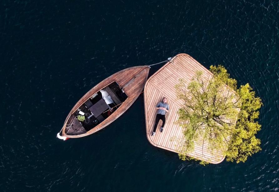 Det herlige livet på en egen øy.         Foto: Fokstrot/Copenhagenislands