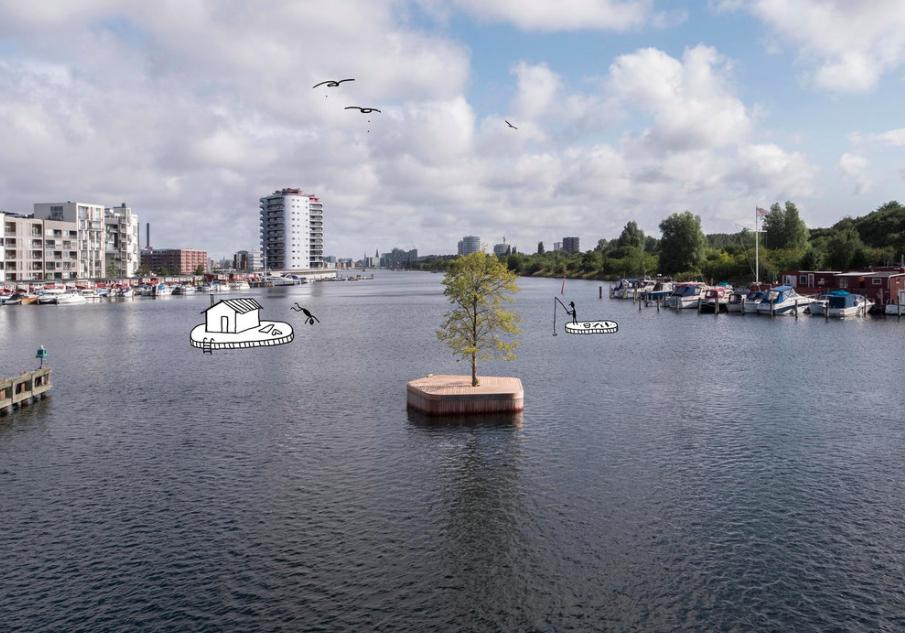 Øyene kan brukes til fiske, eller som plattform for badstu. Bare fantasien setter grenser. Foto/Illustrasjoner:  Fokstrot/Copenhagenislands