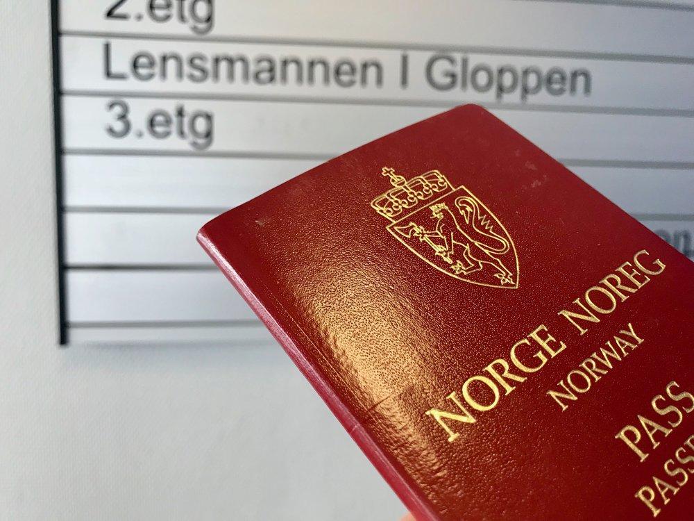 Gloppen lensmannskontor er et av dem som mister passkontoret sitt. Foto: Odd Roar Lange