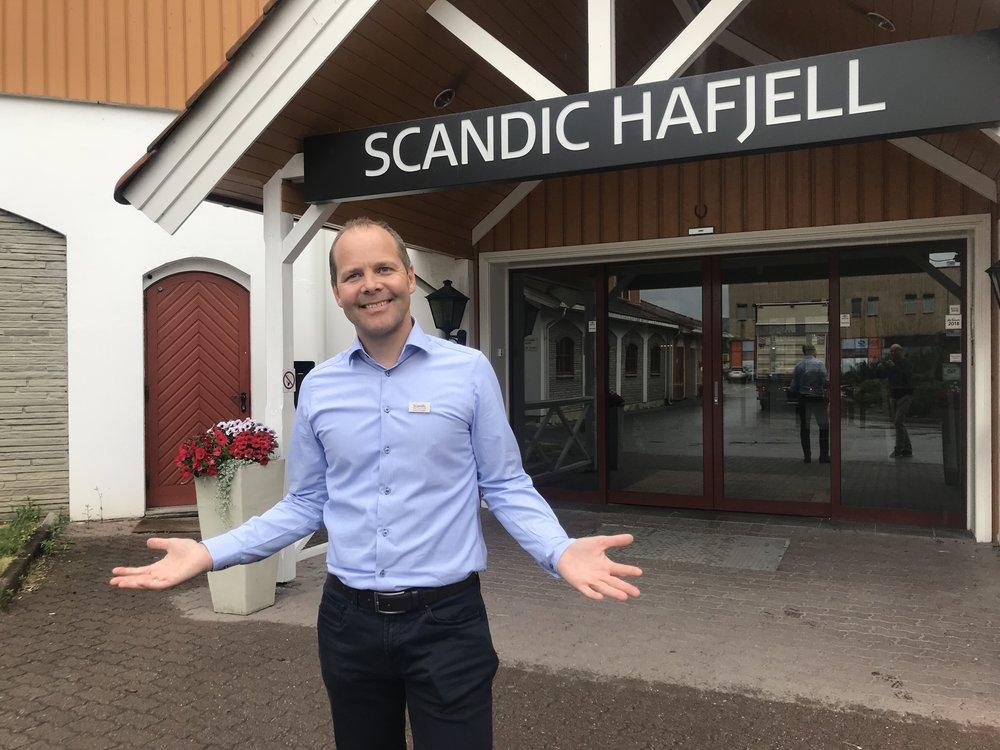 Erik Fostervoll er klar for en ny og travel sommersesong ved Scandic Hafjell. Foto: Odd R. Lange